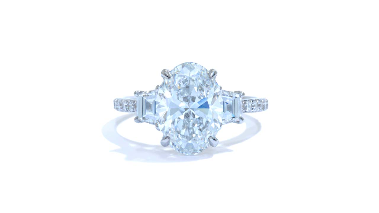 jb5768_lgd1271 - Three Stone Diamond Engagement Ring at Ascot Diamonds