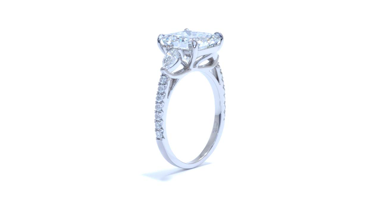 jb5866_lgd1691 - Cushion Cut Engagement Ring   3.00ct at Ascot Diamonds