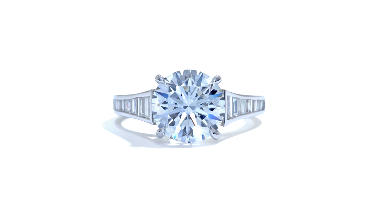 jb5898_lgd1435 - 3.00 ct. Round Art-Deco Engagement Ring at Ascot Diamonds