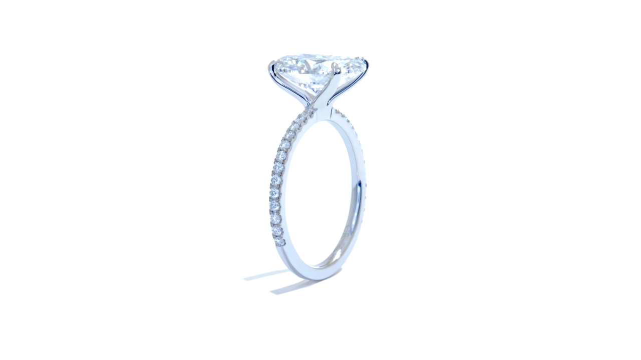 jb5911_lgd1672 - 3.00ct Lab Grown Oval Engagement Ring at Ascot Diamonds