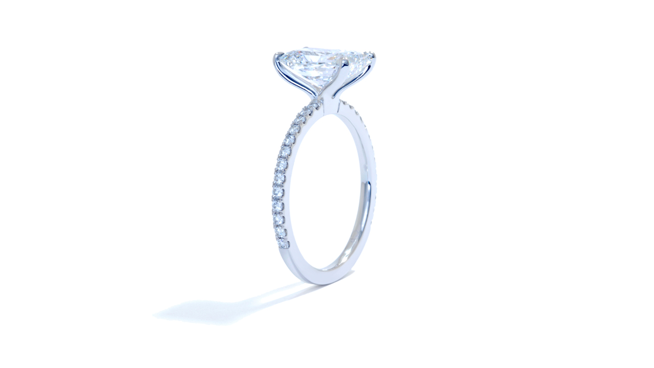 jb5915_lgd1338 - Lab Created Radiant Cut Solitaire Engagement Ring at Ascot Diamonds