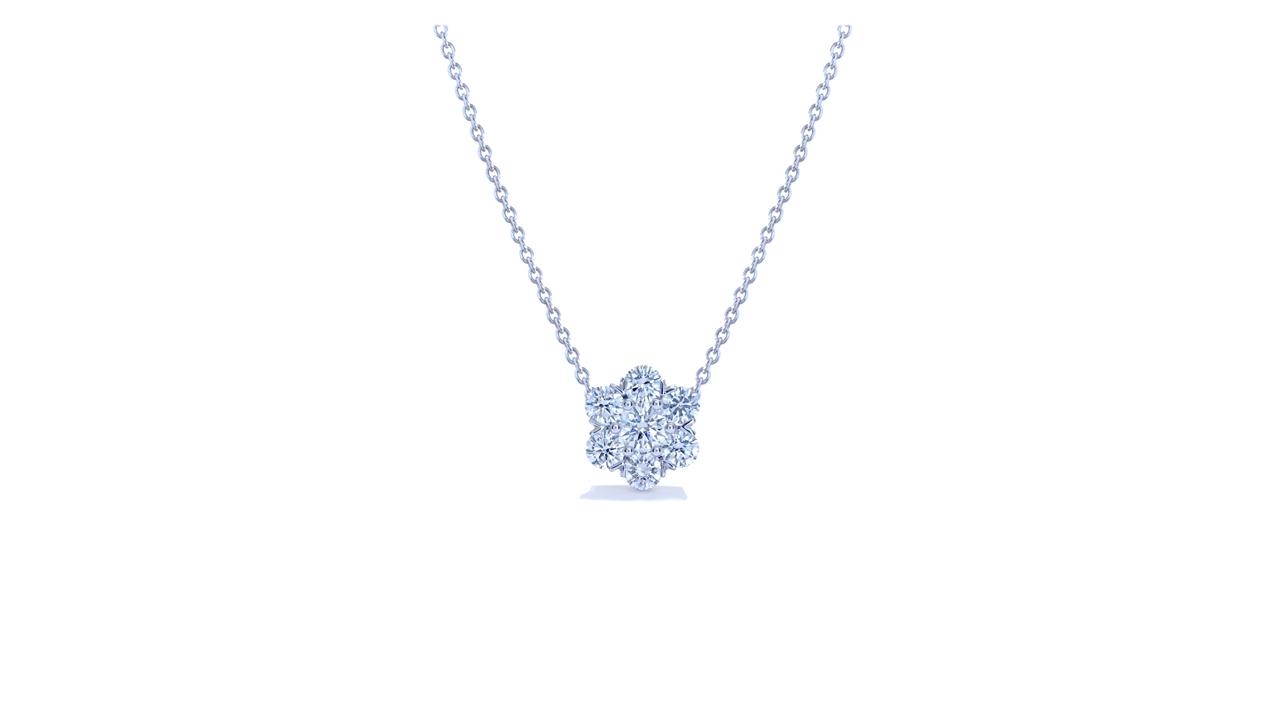 jb6172 - Florette Solitaire Pendant at Ascot Diamonds