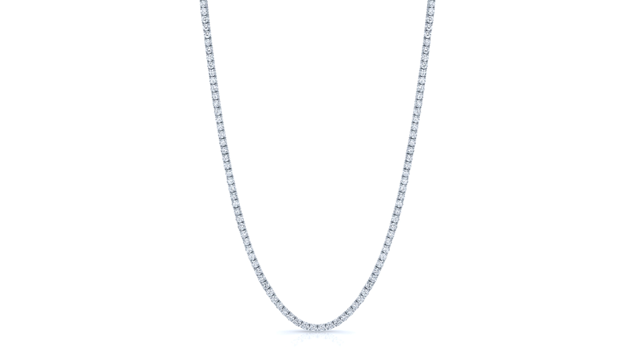 jb6186 - 12.8 carat Diamond Tennis Necklace at Ascot Diamonds