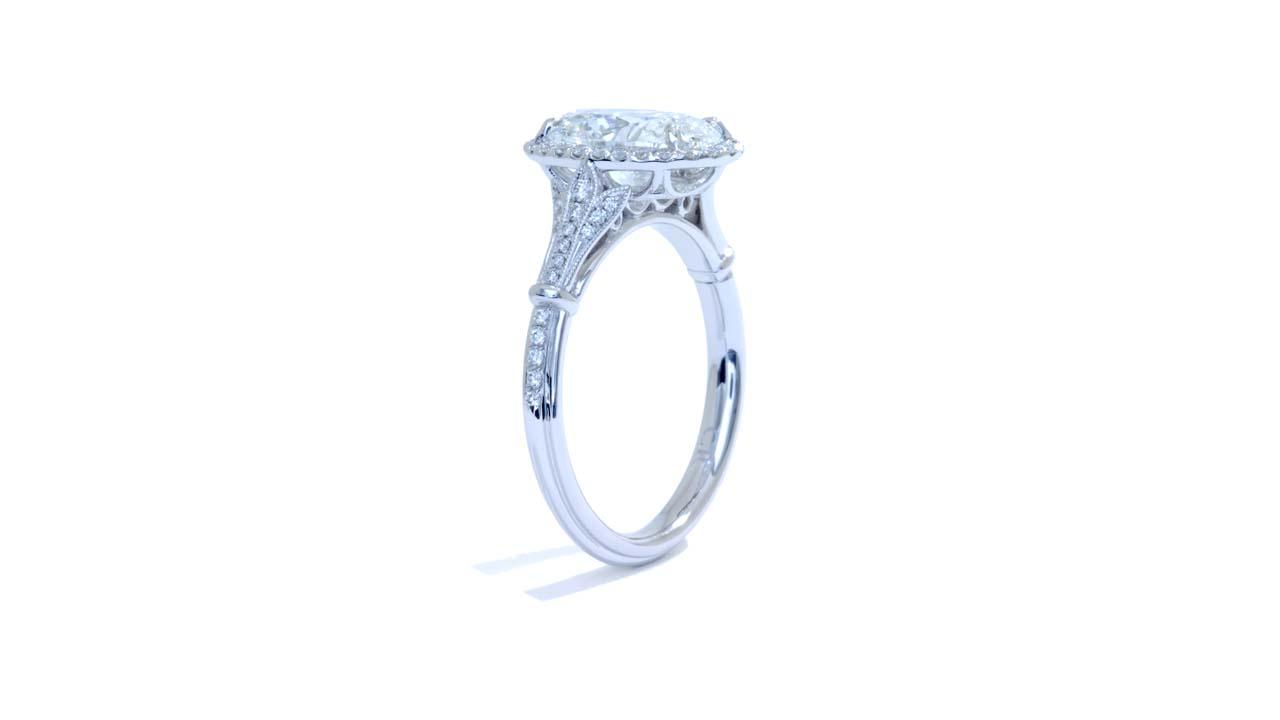 jb6293_d6751 - Oval Halo Diamond Engagement Ring at Ascot Diamonds