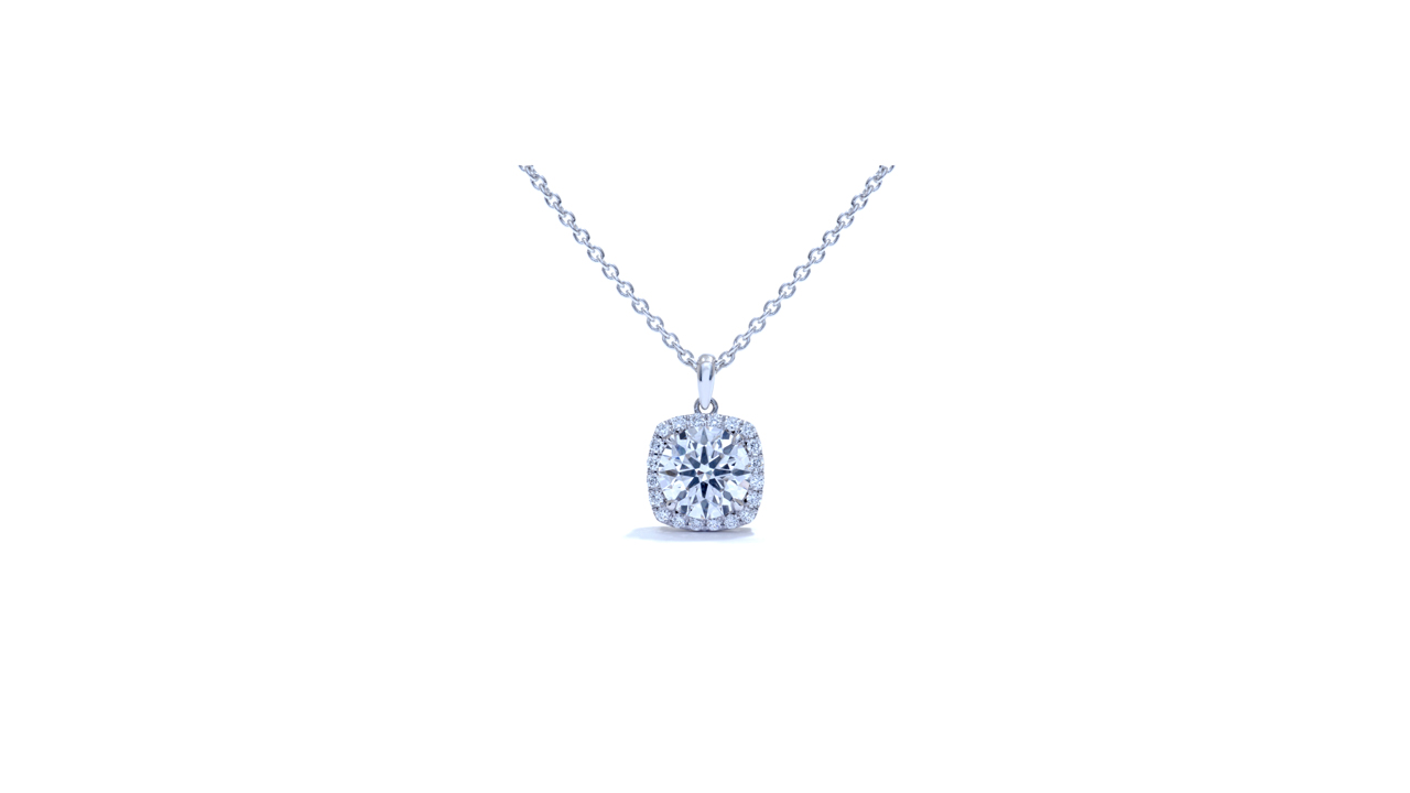 jb6411 - Lab Diamond Solitaire Pendant at Ascot Diamonds