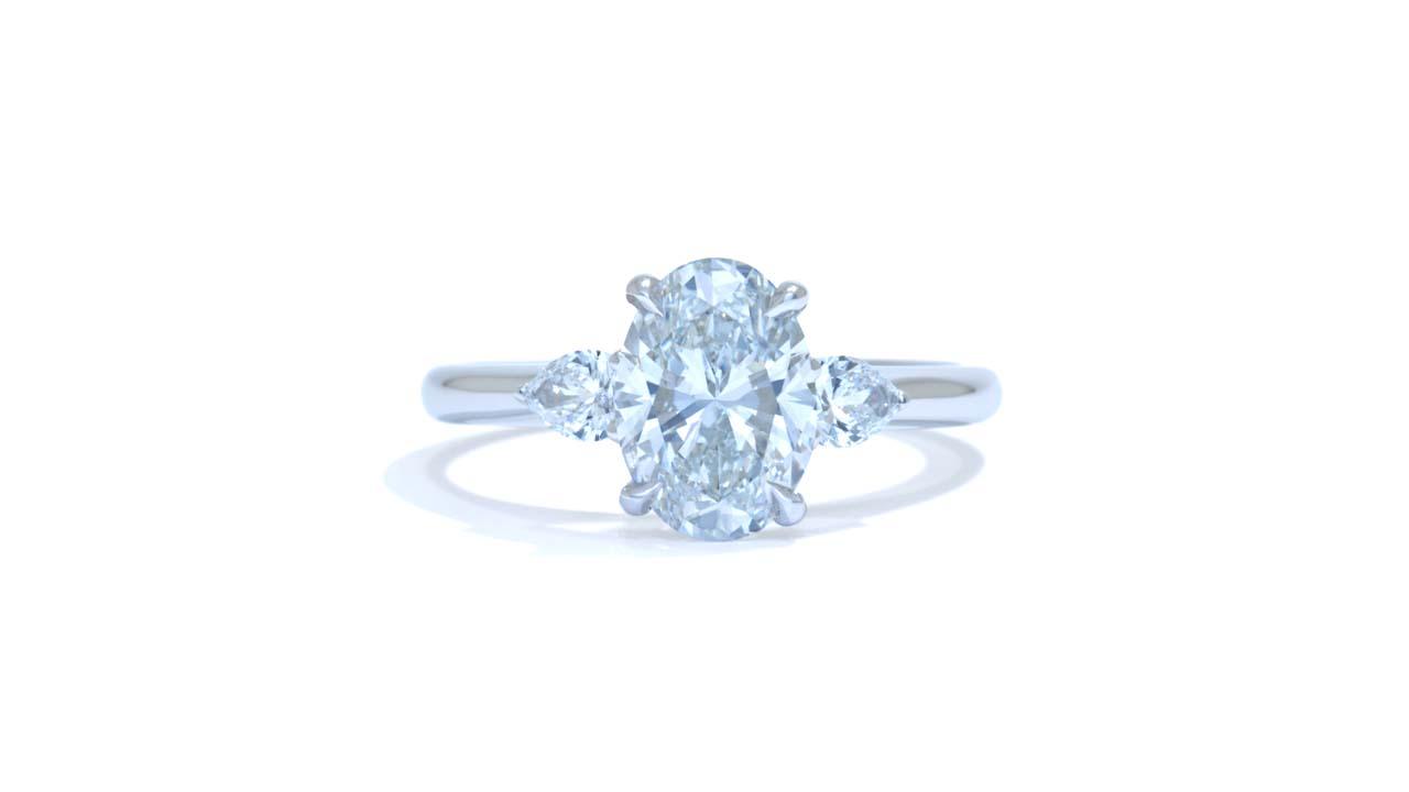 jb6495_lgd1781 - Oval Cut Diamond with Side Stones at Ascot Diamonds