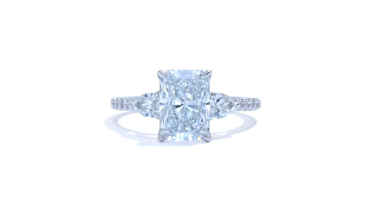 jb6689_lgd1764 - Radiant Cut Three Stone Ring at Ascot Diamonds