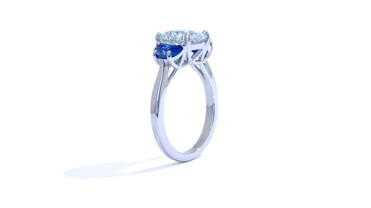 jb6719_lgd1731 - Round Cut Diamond with Half Moon Sapphires at Ascot Diamonds