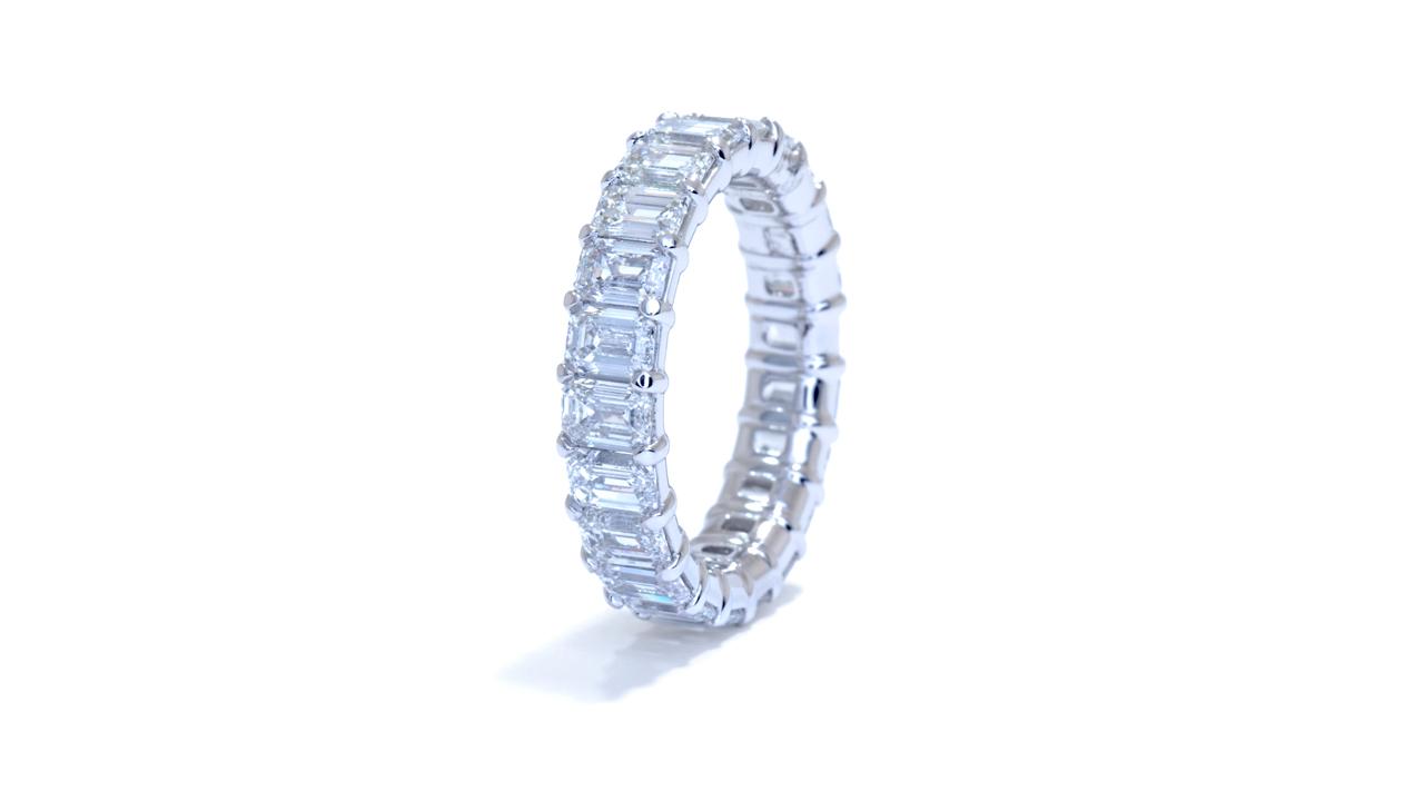 jb6823 - 5ct Emerald Cut Eternity Band at Ascot Diamonds