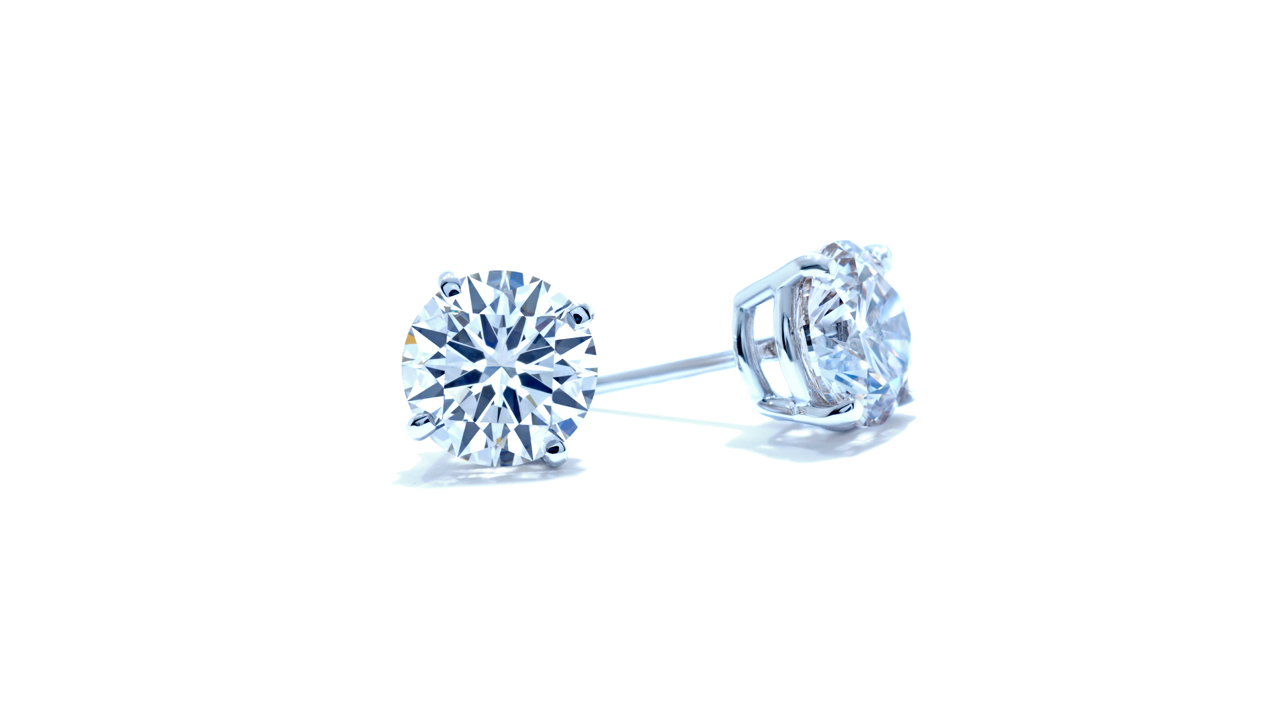 lgstud-500 - 5 ct. Lab Created Diamond Stud Earrings at Ascot Diamonds