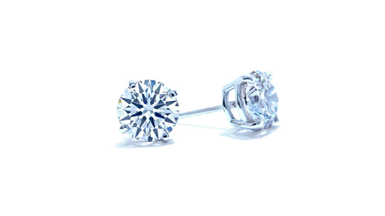 studs-300 - 3 ct. Natural Diamond Stud Earrings  at Ascot Diamonds